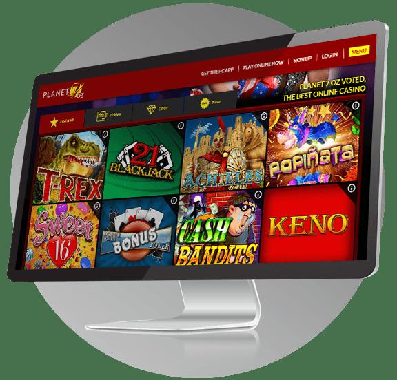 Planet 7 Oz Casino Design