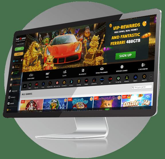 PlayAmo Casino Design