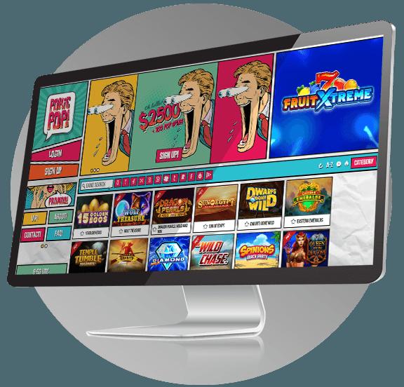Pokie Pop Casino Design